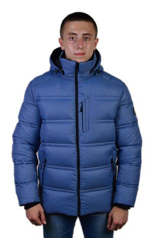 Модель ЗМ 10.19 Серо-голубой куртка мужская, зима