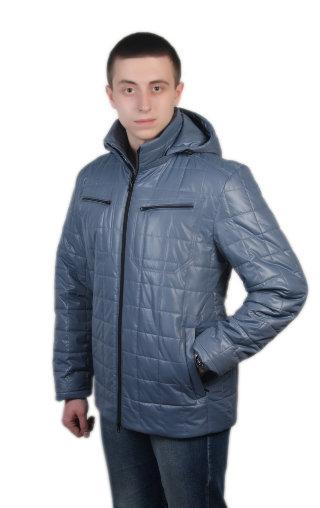 Модель СМ-45 серо-голубой Куртка мужская весна-осень